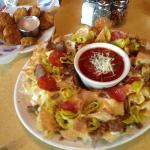 nachos and fried pickles