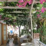 More of the porch at Matina Hotel