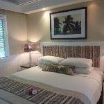 Our bed in oceanview room
