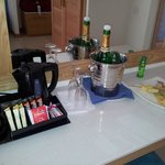Champagne & Teacoffee in room