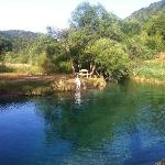 The river Korana. 2 minute walk from the house and you are here to swim :D