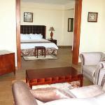 En-suite sitting room with Bedroom view