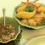 pamelo salad wz tempura prawn!