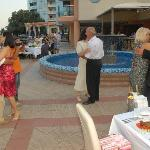 wedding party in the hotel