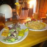 Greek Salad and Fontina Cheese...