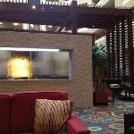Comfortable open area in the lobby