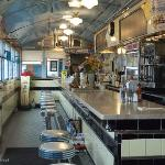 Liberty Elm Diner interior. There is more seating in an annex.