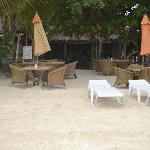 Beachfront bar and restaurant