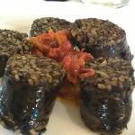 Morcilla de Burgos con Pimientos asados