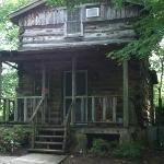 View of our Tobacco Cabin - 'Front Door'