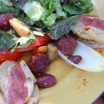 Duck breast salad - divine!
