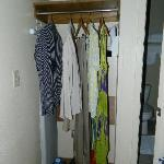 Closet -- very limited space