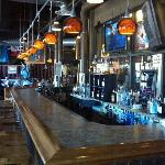 Inside the Blue Heron Brew Pub.