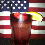 Blueberry lemonade.... all natural.  Let's hear it for America!