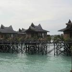 Water bungalow rooms