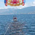 family parasailing