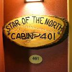 The name plaque of our room