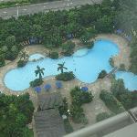 vista de la piscina externa