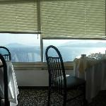 Views of ocean while dining