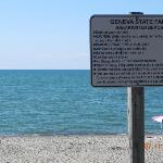 The state park beach sign