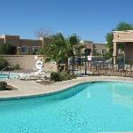 Relax at our beautiful pool and hot tub
