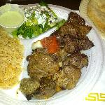 The beef and lamb kabob combo at Maiwand's