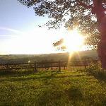 Sunset at Twitchen farm