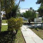 Bungalow courtyard
