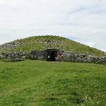 View of entrance to passage tomb