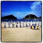 ondarreta beach in front of Ezeiza