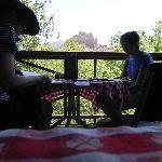 Having linch at The Hideaway Restaurant, Sedona, AZ