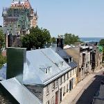 Daytime view from room, Chateau Frontenac and St. Lawrence River in distance