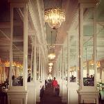 Hall of Mirrors aka Salle Manger--no belly leaves this hotel hungry!