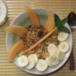 Delicious and healthy - granola for breakfast
