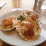 Scallops and delicious