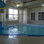 4 feet deep water all around, great for kids!