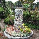 Mendocino Arts Center garden sculpture in July 2012.