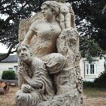 The 2009 Three Ages of Woman sculpture by John Fisher. Photo taken at Mendocino Arts Center in 2