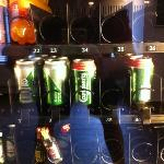 Beer and mini booze bottles in the lobby's vending machine! Savoy Hotel, Copenhagen, Denmark