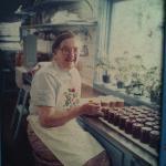 Photo of Ida Putnam in the Jam Kitchen. She began the Jam Kitchen in 1903.