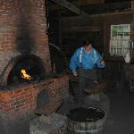 blacksmith hard at work