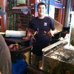 restocking the lobster tank