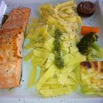 saumon pâtes au Pesto