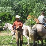 Bozidar teaches western riding