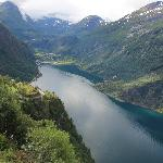 Geiranger - at the end of the Geirangerfjord