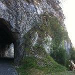 Beautiful Tunnels through cliffs to drive through