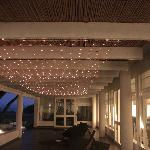 veranda con illuminazione a led