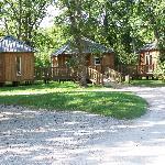Entrée qui mène aux cabanes dans les arbres