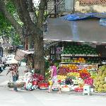 Flower stall 10 metre away from hotel