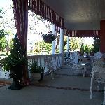 Western half of front porch
